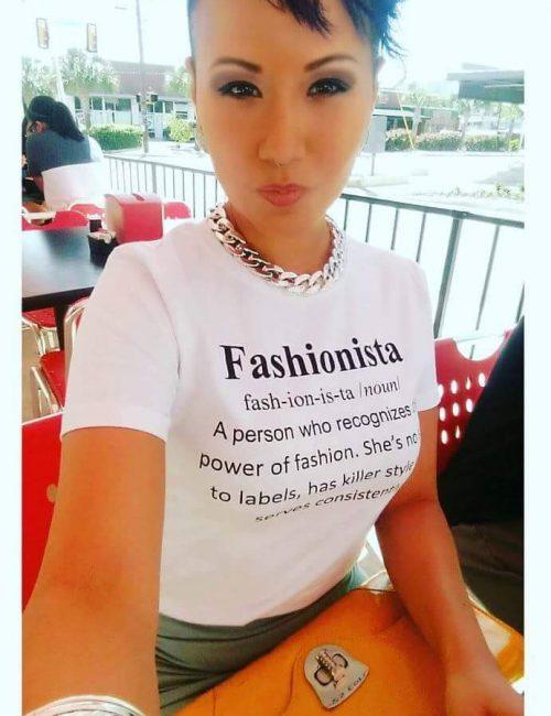 Fashionista Women's Designer Graphic T-Shirt