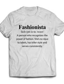 Fashionista Women's Designer Graphic T-Shirt