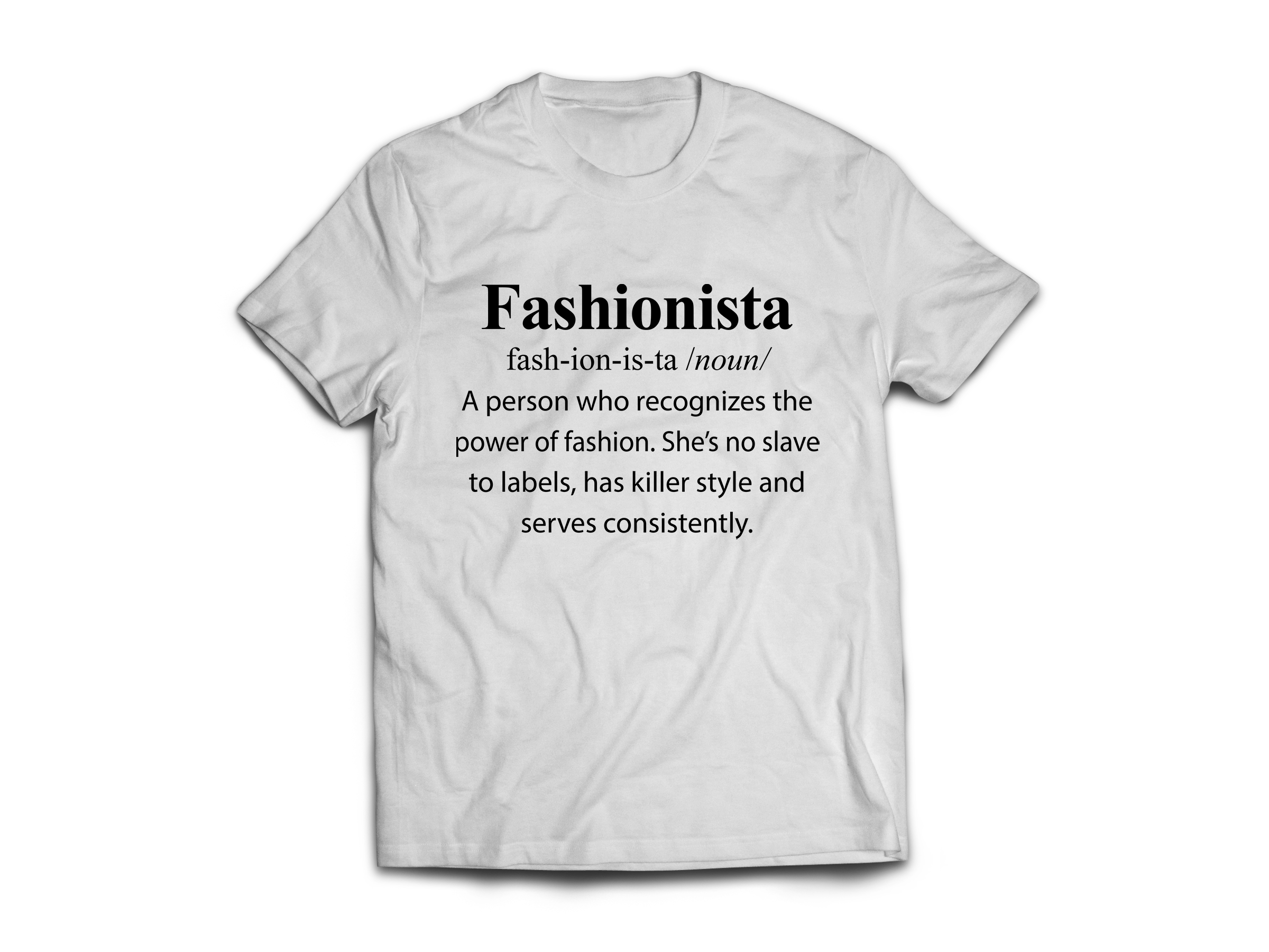 Fashionista women 39 s designer graphic t shirt stylish and for T shirt graphic designer