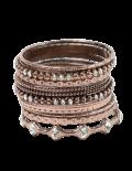 Copper Stacked Bangle Set