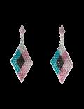 Multi Color Triangle Earrings