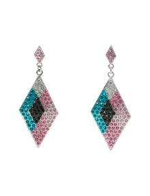 Multi Color Triangle Earrings