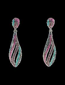 Multi Color Crystal Drop Earrings