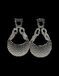 Textured Gunmetal Drop Earrings