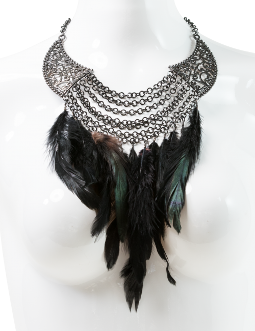 Feathered Statement Necklace