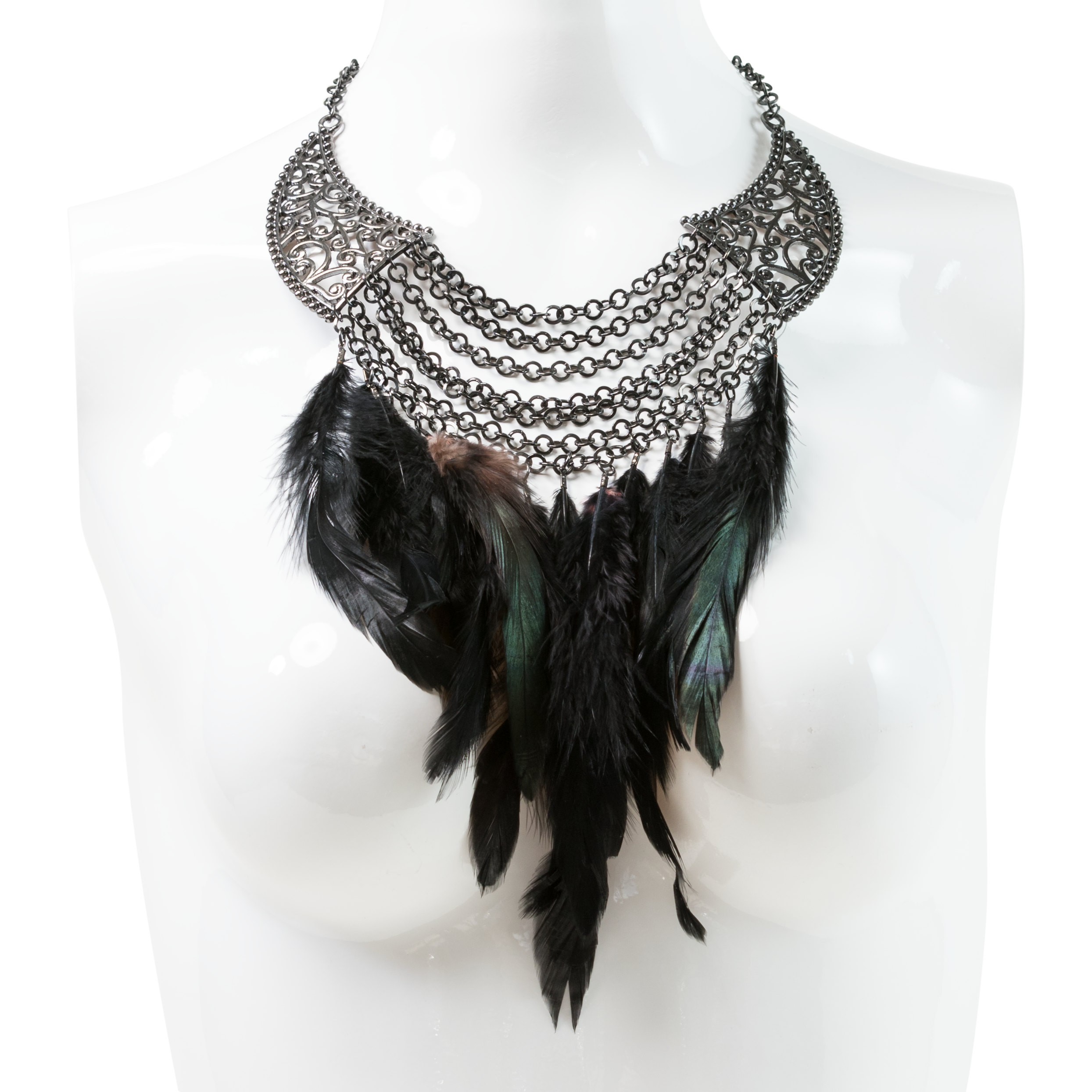 tribal with grey pewter american feathers sleek catcher pendant native pin necklace dream feathered