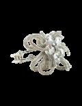 Silver Floral Crystal Bracelet