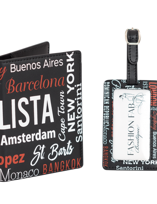 passport holder luggage tag travel set